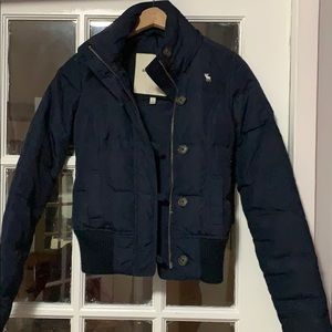Abercrombie baby puffer jacket in size small